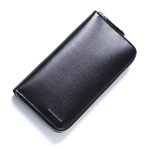 Burberry London Leather Ziparound Men's Wallet