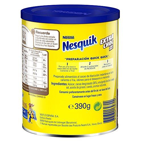 Nesquik Extrachoc - Cacao Soluble Instantáneo - 3 Paquetes de 390 g: Amazon.es: Alimentación y bebidas