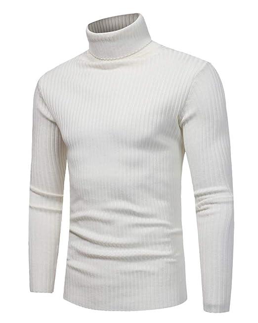 a9a919e1a54c67 Maglione da Uomo Maglia Manica Lunga Dolcevita Collo Alto Maglia:  Amazon.it: Abbigliamento