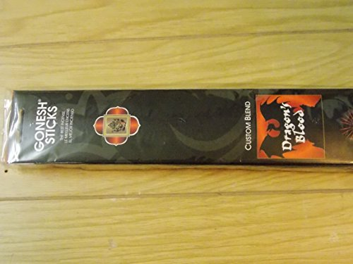 Gonesh Incense Sticks Dragon 's Blood 2 Packs of 20 Sticks, Black