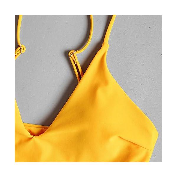 ZAFUL Set Bikini Costume da Bagno da Donna Imbottito Push-up con Stampa a Foglia 4 spesavip