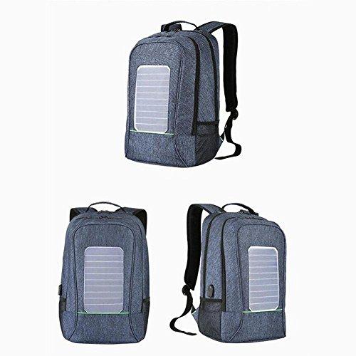 WYXIN 15.6 Zoll Sonnenkollektoren laden externe USB-Gebühr Laptop Rucksäcke Reisen Rucksack für Männer Frauen Blue YFQS1pS4
