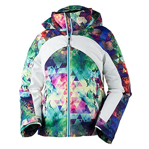 Obermeyer Kids Girl's Tabor Print Jacket (Little Kids/Big Kids) Fractal Floral Large by Obermeyer Kids