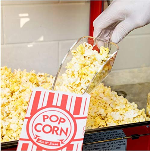 (Clear Polycarbonate Scoop, Plastic Ice Scoop, Popcorn Scoop, Candy Scoop, Utility Scoop, 12-Ounce)