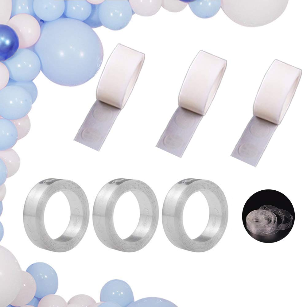 Maygone 2 Rolls 16ft Clear Balloon Decorating Strip Tape for DIY Party Balloon