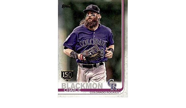 Amazon.com: 2019 Topps Series 1- Charlie Blackmon - 150th ...