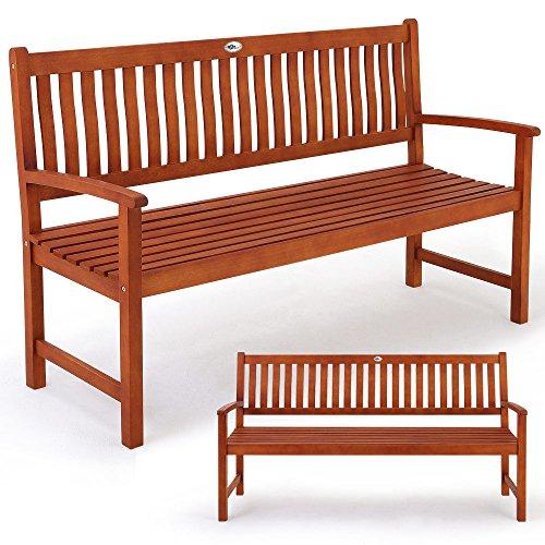 3-Sitzer Gartenbank Maxima aus Eukalyptus- Holzbank Sitzbank Parkbank