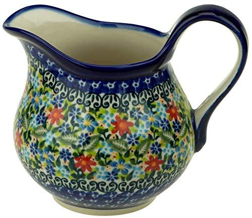 Ceramika Boleslawiecka Kalich Polish Hand Painted Gravy Boat (Flower ()