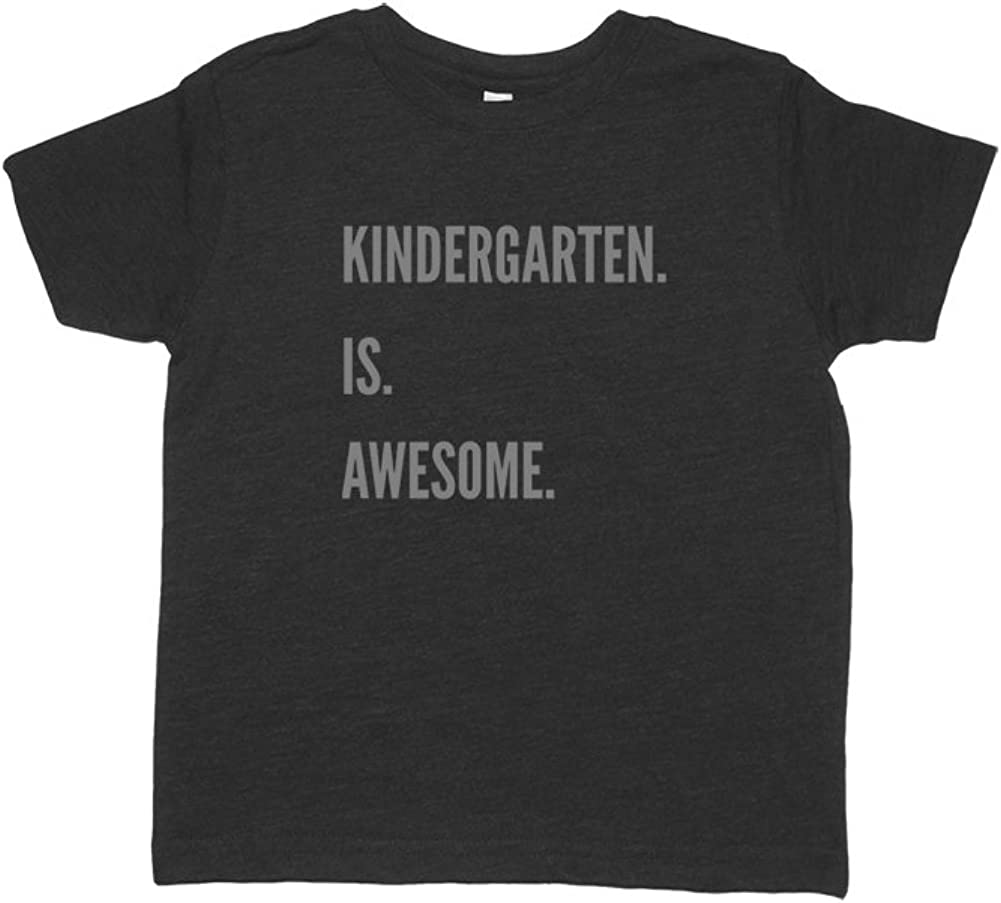 Sunshine Mountain Tees Boys Kindergarten is Awesome School Shirt