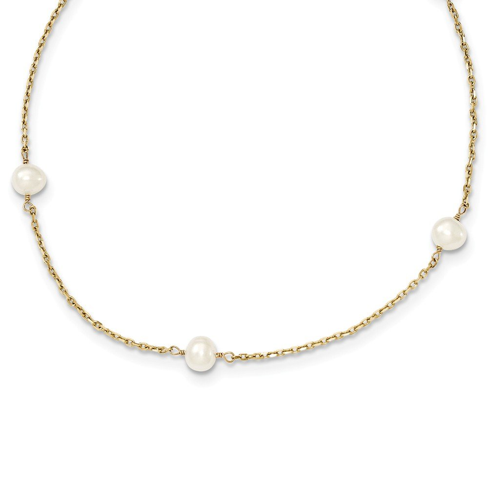 Top 10 Jewelry Gift 14K 4-4.5mm FW Cultured Pearl Necklace