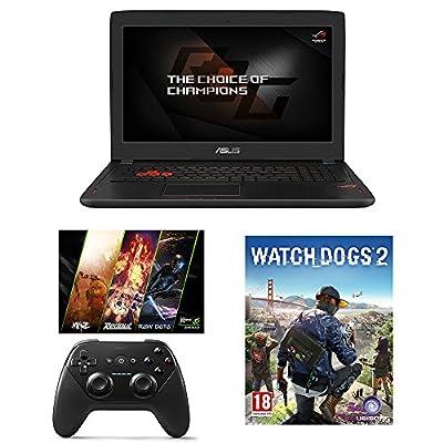 "ASUS ROG STRIX GL502VS-DB71 15.6"" Full-HD Gaming Laptop, GTX1070 8GB, Core i7-6700HQ, 16GB DDR4, 256GB SSD, 1TB HDD + Gaming Bundle"