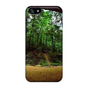 AMzon Iphone 5/5s Well-designed Hard Case Cover Large Cave Small Waterfall Protector