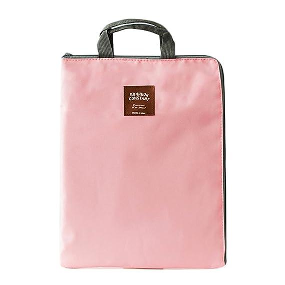 Portafolio de Carpeta documento de viaje organizador A4 chaquetas de archivo bolsillos (Rosa): Amazon.es: Oficina y papelería
