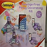 Party Decorating Kit Damage Free to get Your Party Started By Command-Includes: 6 x Balloon Bunches - 8 Strips, Clear Decorating Clips: 20 Clips 24 Strips - Ceiling - 6 Hooks with 8 Strips. by Command