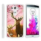 G3 Phone Case, Hard Shield Phone Case Hard Jacket with Unique Designs for LG G3 (D850, D851, D855, VS985, LS990, US990) by MINITURTLE - Pink Deer Stag