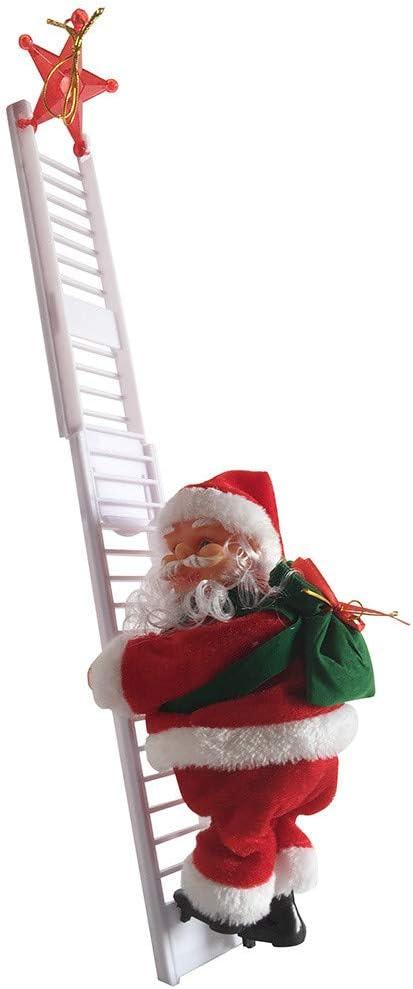 Takkar - Figura Decorativa de Papá Noel con Escalera eléctrica de Navidad, Regalo de muñeca, Juguete para supermercados, Casas, Longitud de la Escalera de 65 cm, 19 x 9 cm: Amazon.es: Hogar