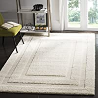 Safavieh Shadow Box Shag Collection SG454-1111 Cream Area Rug (6 x 9)