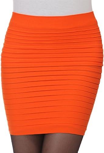 KA Belleza de la mujer falda de tubo por encima de rodilla para ...
