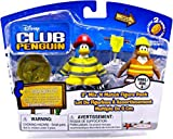 Disney Club Penguin Series 6 Mix 'N Match Mini Figure Pack Firefighter & Construction Worker Includes Coin with Code!