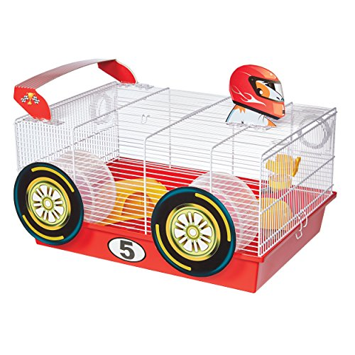 ts Hamster Cage | Fun Race Car Theme | Accessories & Decals Included ()