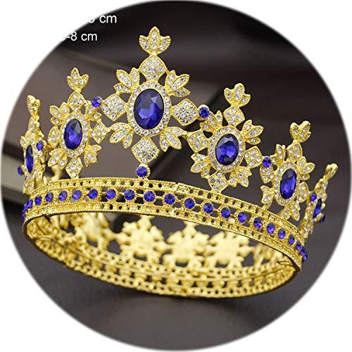 Headband For Wedding Crown Bride Tiaras And Crowns Hair Jewelry Queen King Diadem Headdress Prom Wedding Hair Ornaments Bridal