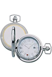 Colibri Pocket Watch Stainless Steel & 14KT Gold Mother of Pearl Dial PWQ096986S