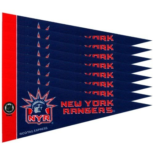 Rico NHL Rangers - NY Ny Rangers 8 Pc Mini Pennant Pack Sports Fan Home Decor, Multicolor, One Size by Rico