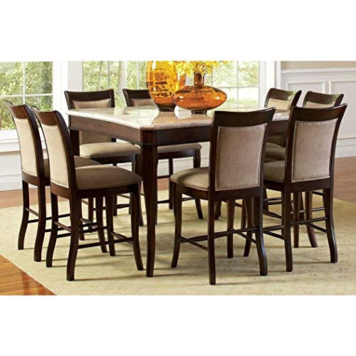 Greyson Living Madaleine Counter-Height Marble Veneer Dining Set 7 Piece 7-Piece Sets (Set Dining Room Merlot)