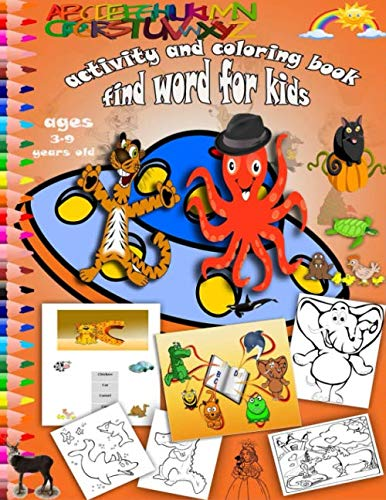 Halloween Word Finds For Kids (Find Word For Kids 3-9 Activity And Coloring Book :: Word Search For Kids Set Kindergarten Spy Coloring Science abc Kids)