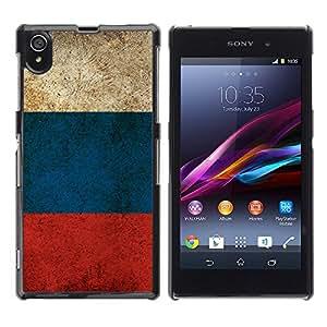 Paccase / SLIM PC / Aliminium Casa Carcasa Funda Case Cover para - Russian Flag - Sony Xperia Z1 L39 C6902 C6903 C6906 C6916 C6943