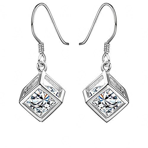 Hosaire Dangle Earrings Elegant Shining Crystal Drop Hook Earrings for Women's Jewelry