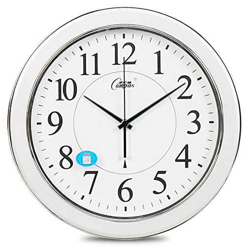 YYL Living Room Modern Radio Controlled Clock,Mute Intelligent Radio Controlled Clock-D 16inch