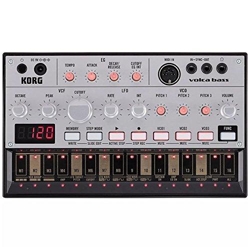 Korg Volca Bass Analogue Bass Machine and Korg 9V600MACPP 9v 600ma Power Supply