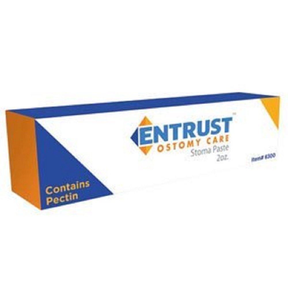 Fortis - Entrust - Ostomy Pectin-Based Paste - 2 oz Tube - Skin-Friendly - Latex-Free by Entrust