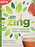 ''Born Sweet Zing'' Zero Calorie Stevia Sweetener Packets - 6 Packs, 240 Packet Count
