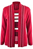 Be Jealous Womens Ladies Fine Knitted Striped Jumper Open Long Sleeve Sweater Twin Cardigan