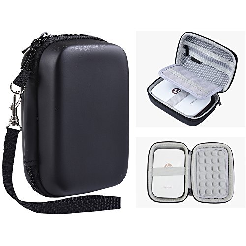 Katia Hard Case for HP Sprocket Portable Photo Printer. Hp Sprocket Case, Also fits Polaroid ZIP Mobile Printer/ ZINK Zero Ink Printing Technology/ Polaroid Snap Instant Digital Camera (Black) 14/3 Snap