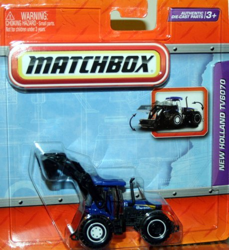 NEW HOLLAND TV6070 * BLUE * Matchbox Real Working Rigs Die-Cast Vehicle * Real Working Parts *]()