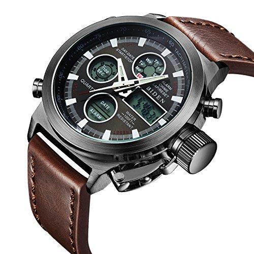 Watch%2C+Watch+Men+Digital+Analog+Sport+Waterproof+Watch%2CMultifunction+LED+Date+Alarm+Brown+Leather+Wrist+Watch