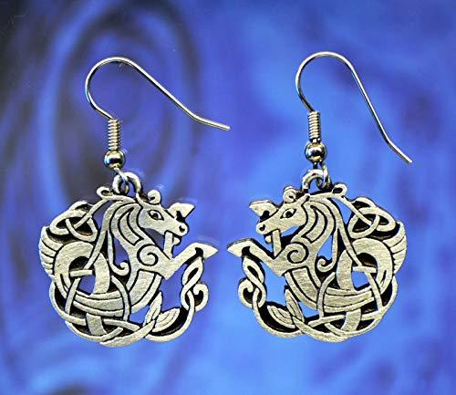 Celtic Seahorse Earrings Celtic Jewelry Designs in Fine Pewter ()
