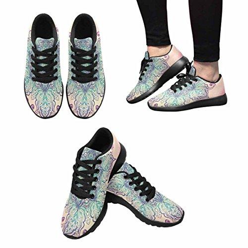 InterestPrint Womens Trail Running Shoes Jogging Lightweight Sports Walking Athletic Sneakers Mandala Multi 1 zx49jKt35