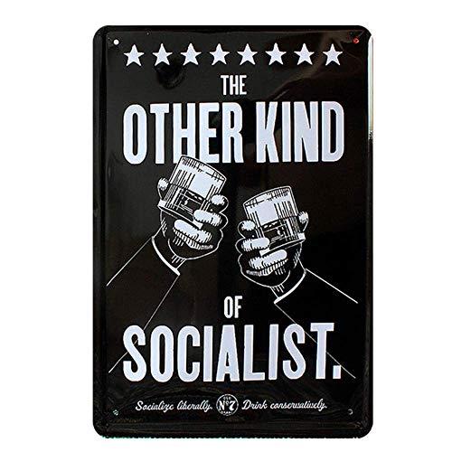他の種類の社会主義者 金属板ブリキ看板注意サイン情報サイン金属安全サイン警告サイン表示パネル