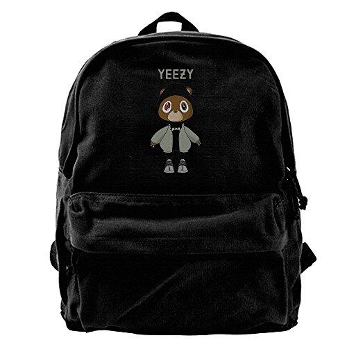 Price comparison product image Koorol Yeezy Kanye West Bear Canvas Backpack Rucksack Laptop Bag Computer Bag Daypack Travel Bag College Bag.