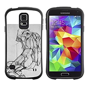 Suave TPU GEL Carcasa Funda Silicona Blando Estuche Caso de protección (para) Samsung Galaxy S5 / CECELL Phone case / / Drawing Pencil Body Image /