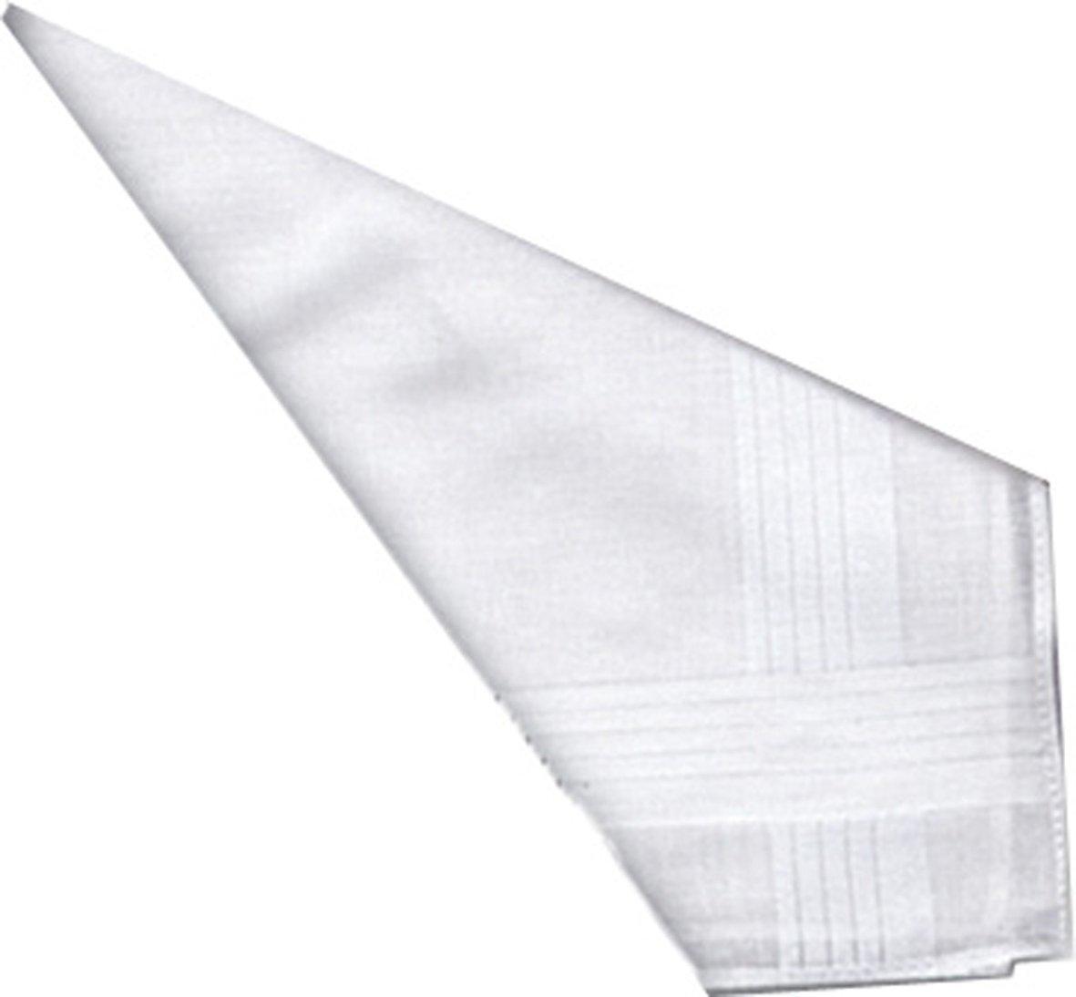 DuDu N Girlie Satin Bordüre Herren 100% Baumwolle Taschentuch, 40cm x 40cm, 12-teilig 40cm x 40cm Dudu N Girlie Limited B003SRMNQQ