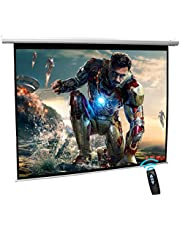 Projector Screen White Electric 180x180 cm Cyber