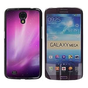 Be Good Phone Accessory // Dura Cáscara cubierta Protectora Caso Carcasa Funda de Protección para Samsung Galaxy Mega 6.3 I9200 SGH-i527 // Aurora Borealis Purple Night Sky Stars