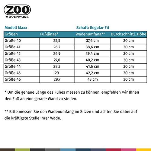 ZOO Adventure - Vince - Wasserdichte Outdoorstiefel & Winterstiefel aus Leder für Herren Dunkelbraun