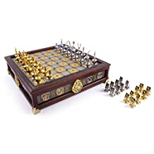 Harry Potter Quidditch Chess Set - Silver and Gold Plated