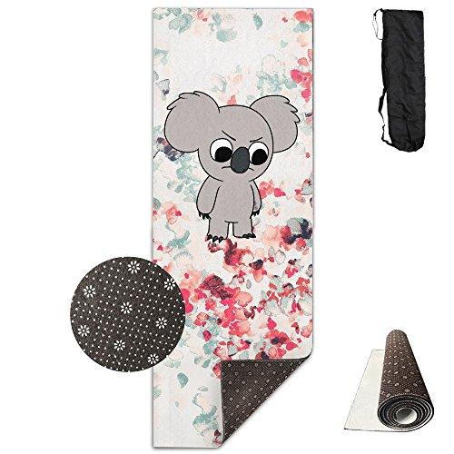 Non Slip Fabric Eco Friendly Angry Koala Yoga Towel For Yoga, Fitness, Pilates, Ashtanga, Bikram, Sweaty Practice Or - Map Times Square Shopping